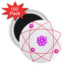 Atom Physical Chemistry Line Red Purple Space 2 25  Magnets (100 Pack)  by Alisyart