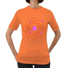 Atom Physical Chemistry Line Red Purple Space Women s Dark T Shirt by Alisyart