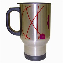 Atom Physical Chemistry Line Red Purple Space Travel Mug (silver Gray) by Alisyart