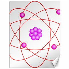 Atom Physical Chemistry Line Red Purple Space Canvas 36  X 48   by Alisyart