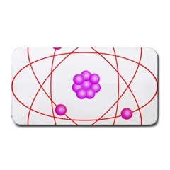 Atom Physical Chemistry Line Red Purple Space Medium Bar Mats