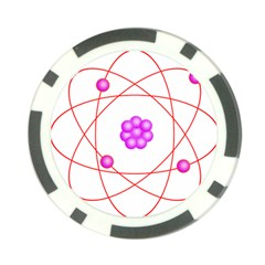 Atom Physical Chemistry Line Red Purple Space Poker Chip Card Guard by Alisyart