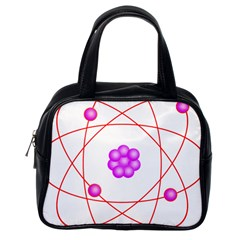 Atom Physical Chemistry Line Red Purple Space Classic Handbags (one Side) by Alisyart