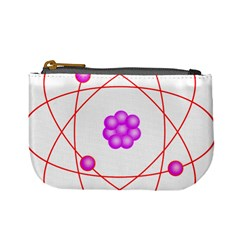 Atom Physical Chemistry Line Red Purple Space Mini Coin Purses