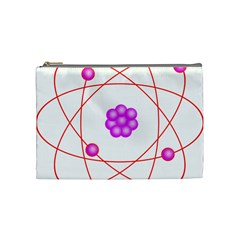 Atom Physical Chemistry Line Red Purple Space Cosmetic Bag (medium)  by Alisyart