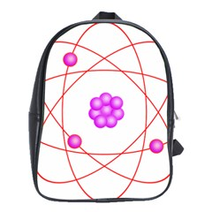 Atom Physical Chemistry Line Red Purple Space School Bags(large)  by Alisyart