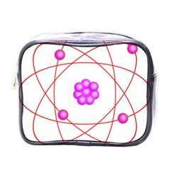 Atom Physical Chemistry Line Red Purple Space Mini Toiletries Bags by Alisyart