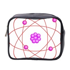 Atom Physical Chemistry Line Red Purple Space Mini Toiletries Bag 2 Side by Alisyart