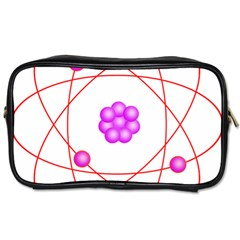 Atom Physical Chemistry Line Red Purple Space Toiletries Bags by Alisyart