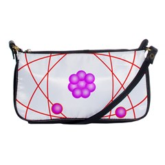 Atom Physical Chemistry Line Red Purple Space Shoulder Clutch Bags by Alisyart