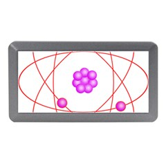 Atom Physical Chemistry Line Red Purple Space Memory Card Reader (mini) by Alisyart