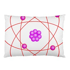 Atom Physical Chemistry Line Red Purple Space Pillow Case (two Sides) by Alisyart