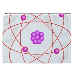 Atom Physical Chemistry Line Red Purple Space Cosmetic Bag (xxl)  by Alisyart