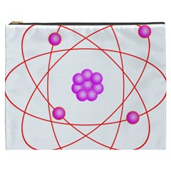 Atom Physical Chemistry Line Red Purple Space Cosmetic Bag (xxxl)  by Alisyart