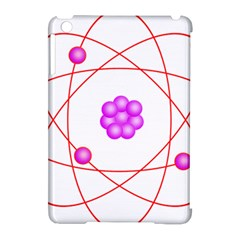 Atom Physical Chemistry Line Red Purple Space Apple Ipad Mini Hardshell Case (compatible With Smart Cover) by Alisyart