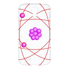 Atom Physical Chemistry Line Red Purple Space Samsung Galaxy S4 I9500/i9505 Hardshell Case by Alisyart