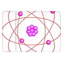 Atom Physical Chemistry Line Red Purple Space Samsung Galaxy Tab 8 9  P7300 Flip Case by Alisyart