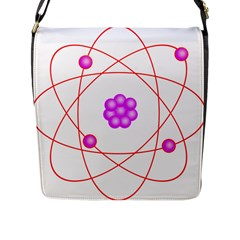 Atom Physical Chemistry Line Red Purple Space Flap Messenger Bag (l)  by Alisyart