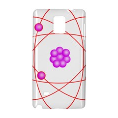 Atom Physical Chemistry Line Red Purple Space Samsung Galaxy Note 4 Hardshell Case