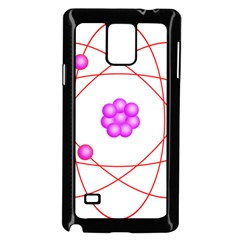 Atom Physical Chemistry Line Red Purple Space Samsung Galaxy Note 4 Case (black) by Alisyart