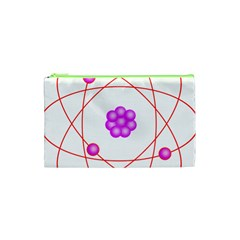 Atom Physical Chemistry Line Red Purple Space Cosmetic Bag (xs) by Alisyart