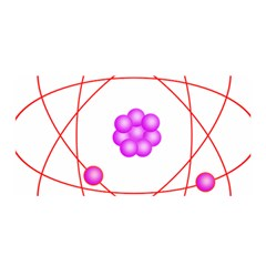 Atom Physical Chemistry Line Red Purple Space Satin Wrap by Alisyart