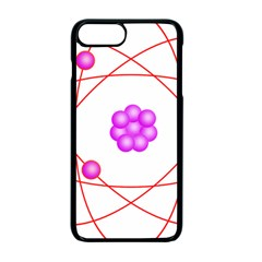 Atom Physical Chemistry Line Red Purple Space Apple Iphone 7 Plus Seamless Case (black)