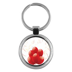 Balloon Partty Red Key Chains (round)  by Alisyart