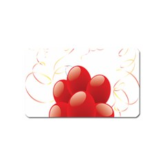 Balloon Partty Red Magnet (name Card) by Alisyart