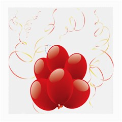 Balloon Partty Red Medium Glasses Cloth (2 Side)