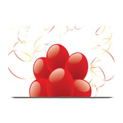 Balloon Partty Red Plate Mats by Alisyart