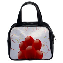 Balloon Partty Red Classic Handbags (2 Sides)