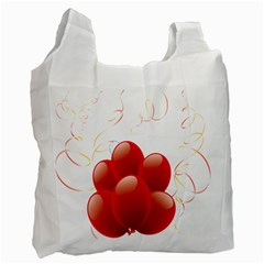 Balloon Partty Red Recycle Bag (two Side)  by Alisyart