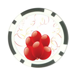 Balloon Partty Red Poker Chip Card Guard (10 Pack) by Alisyart