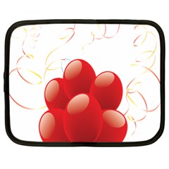 Balloon Partty Red Netbook Case (xl)  by Alisyart