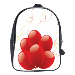 Balloon Partty Red School Bags(large)  by Alisyart