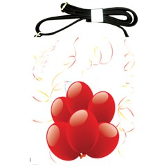 Balloon Partty Red Shoulder Sling Bags by Alisyart