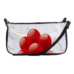 Balloon Partty Red Shoulder Clutch Bags