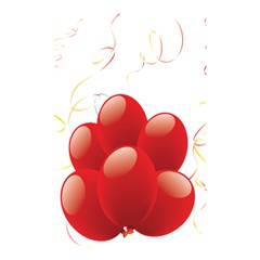 Balloon Partty Red Shower Curtain 48  X 72  (small)  by Alisyart