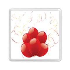Balloon Partty Red Memory Card Reader (square)  by Alisyart