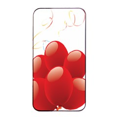 Balloon Partty Red Apple Iphone 4/4s Seamless Case (black) by Alisyart