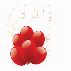 Balloon Partty Red Small Garden Flag (two Sides)