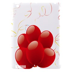 Balloon Partty Red Apple Ipad 3/4 Hardshell Case (compatible With Smart Cover) by Alisyart