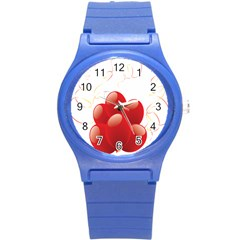 Balloon Partty Red Round Plastic Sport Watch (s) by Alisyart