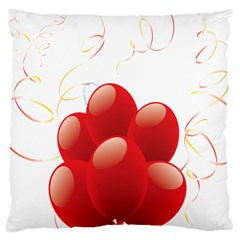 Balloon Partty Red Large Cushion Case (one Side) by Alisyart