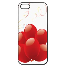 Balloon Partty Red Apple Iphone 5 Seamless Case (black)