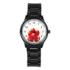 Balloon Partty Red Stainless Steel Round Watch by Alisyart