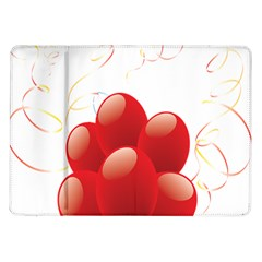 Balloon Partty Red Samsung Galaxy Tab 10 1  P7500 Flip Case