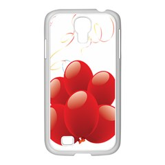 Balloon Partty Red Samsung Galaxy S4 I9500/ I9505 Case (white) by Alisyart