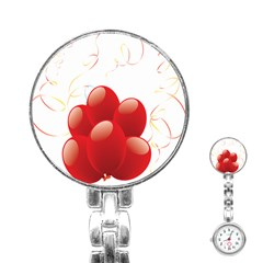 Balloon Partty Red Stainless Steel Nurses Watch by Alisyart